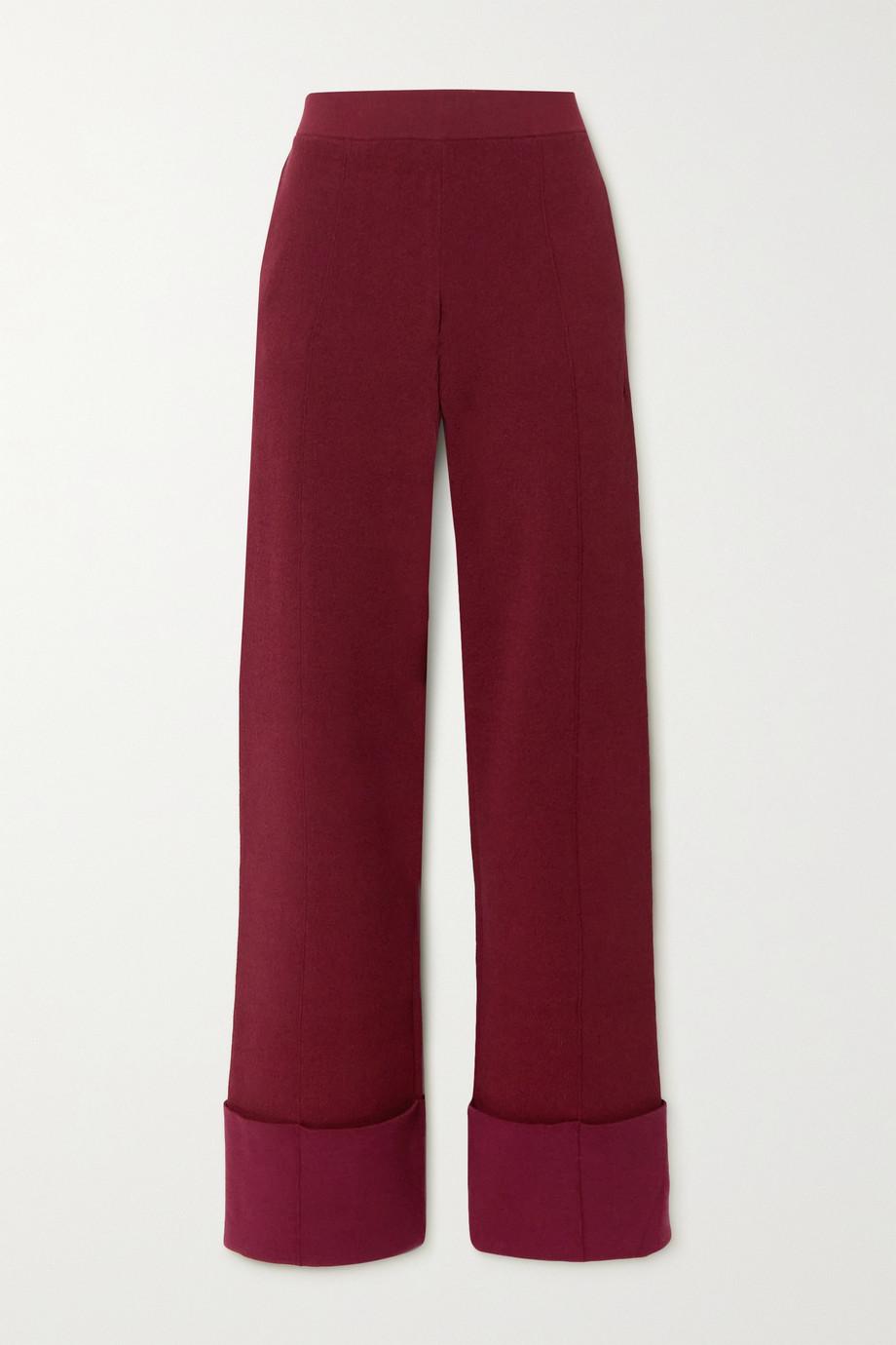 Altuzarra Pantalon large en mailles stretch Jordan