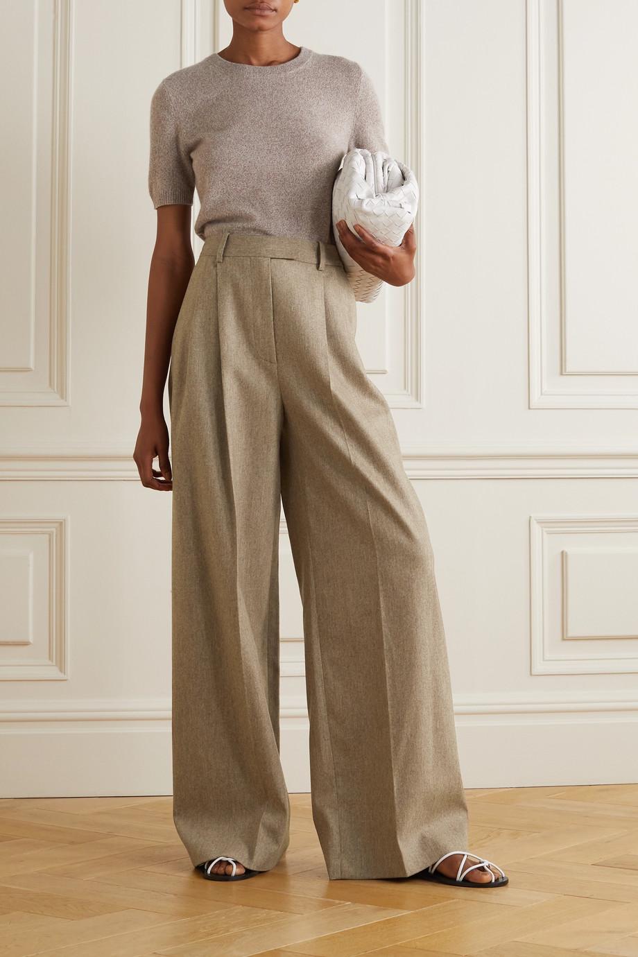 Altuzarra Pantalon large en laine stretch à plis Bendix