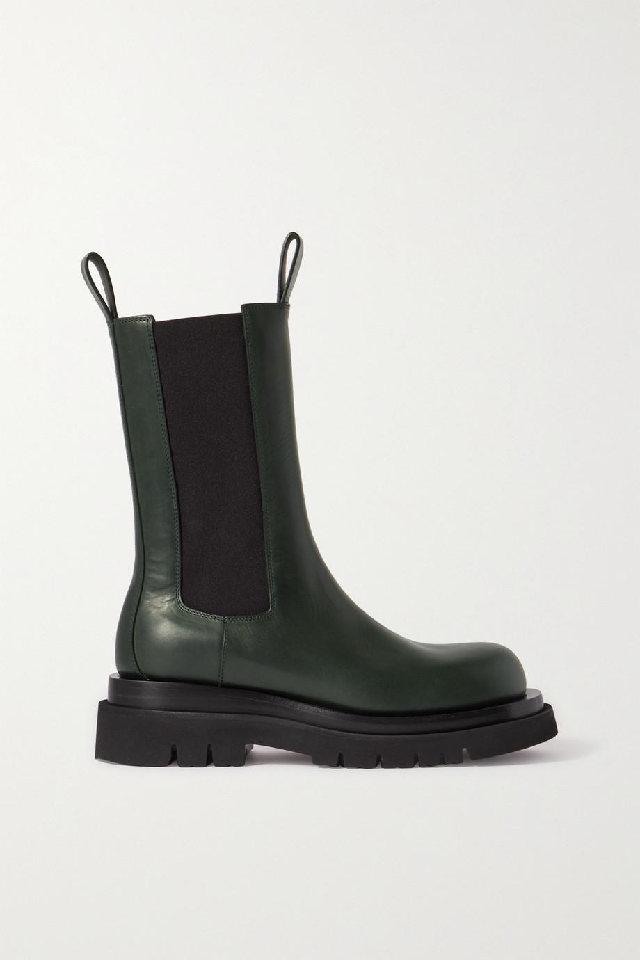 Bottega Veneta Lug rubber-trimmed leather Chelsea boots