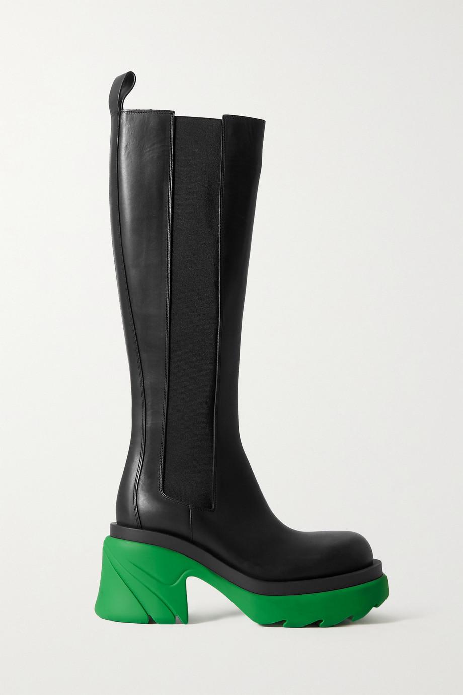 Bottega Veneta Leather platform knee boots