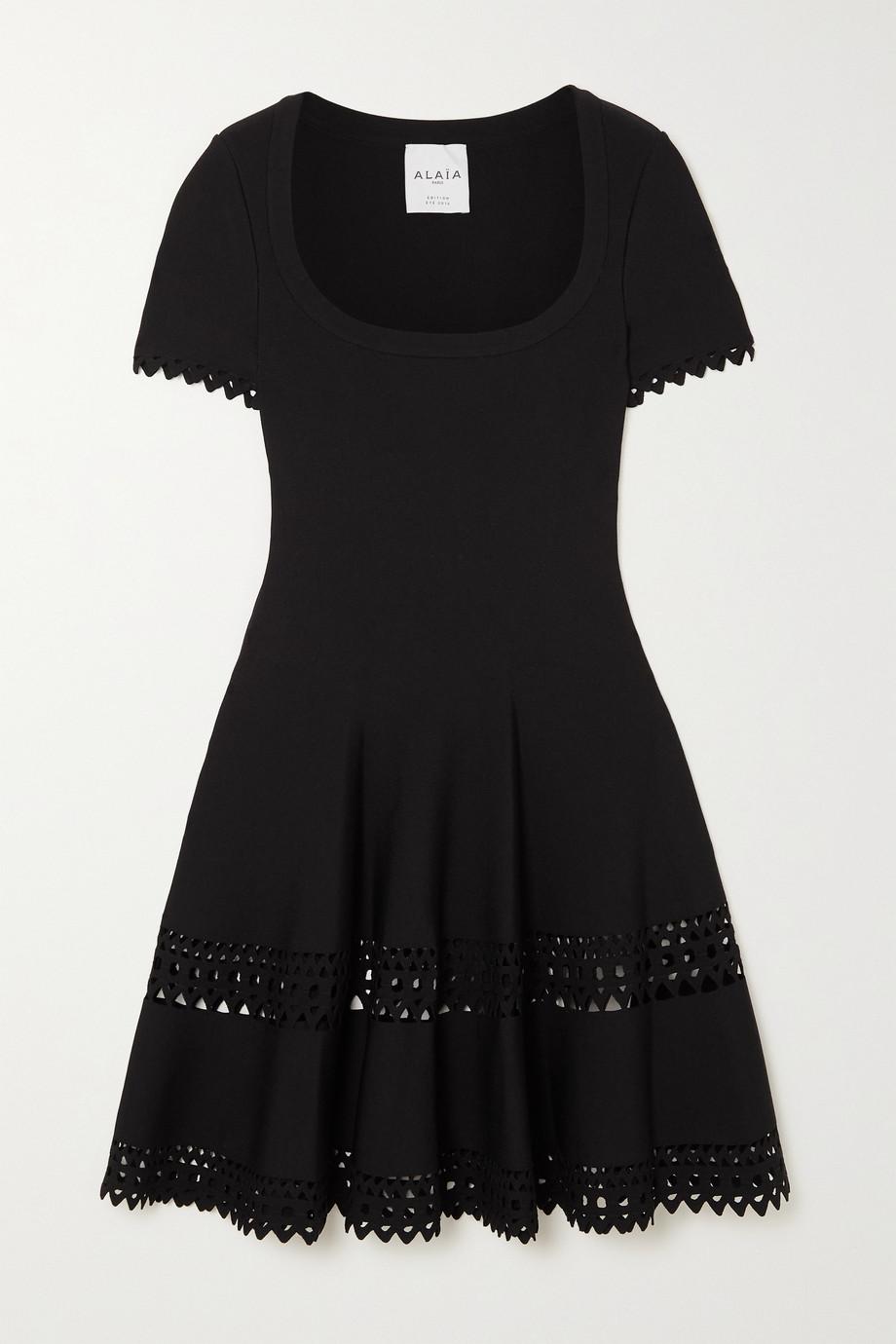 Alaïa Mini-robe en mailles stretch découpée au laser Editions