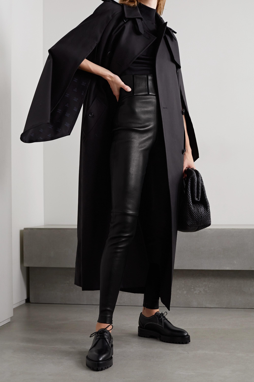 Alaïa Embroidered leather leggings