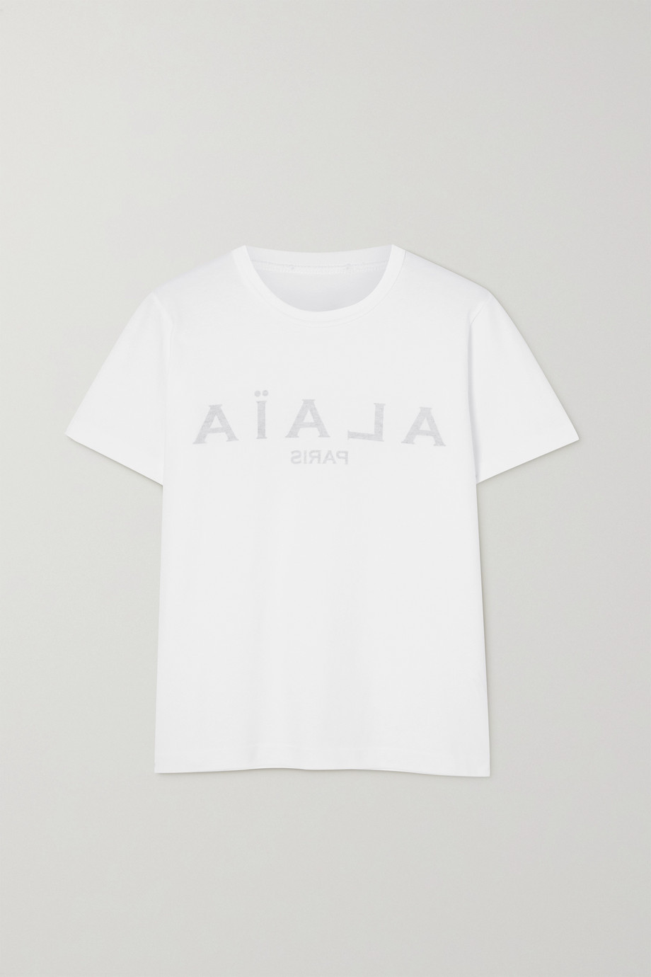 Alaïa Editions printed cotton-jersey T-shirt