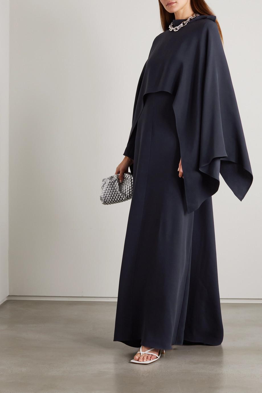 Valentino Draped silk-crepe gown
