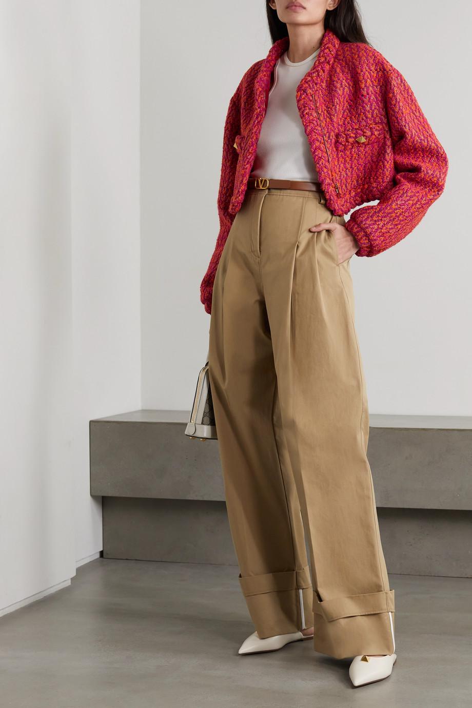 Valentino Veste raccourcie en tweed de laine mélangée métallisé