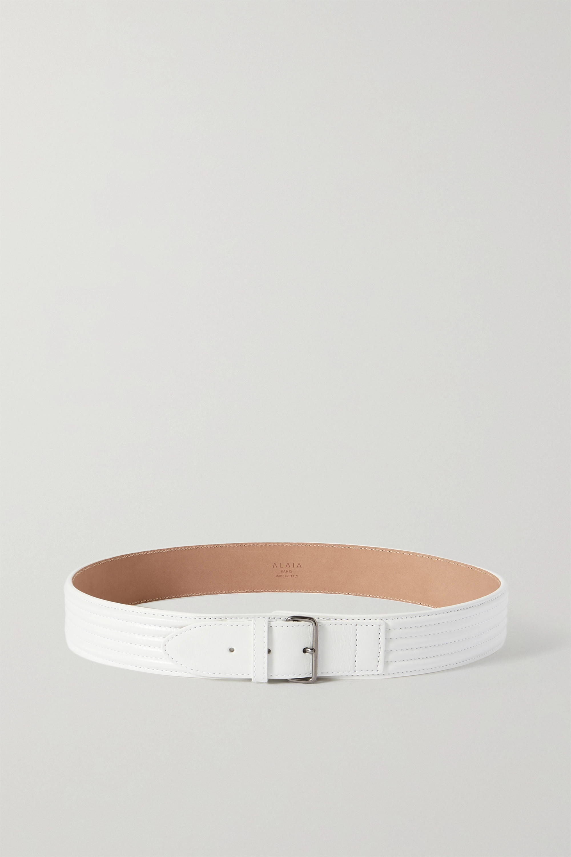 Alaïa - Ribbed leather waist belt