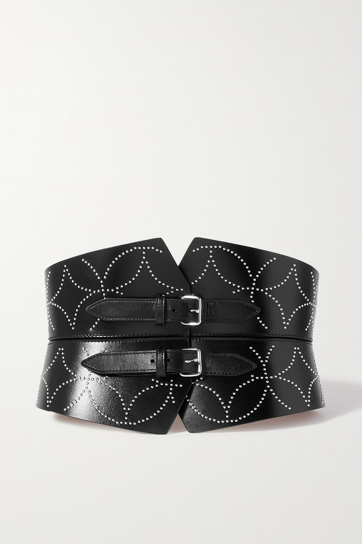 Alaïa - Studded leather waist belt