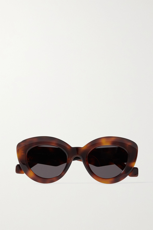 Loewe Cat-Eye-Sonnenbrille aus Azetat in Hornoptik