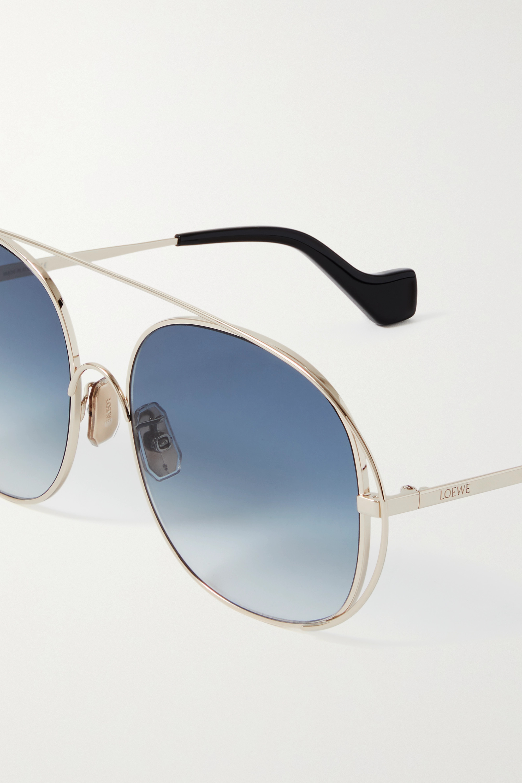 Loewe Round-frame gold-tone sunglasses