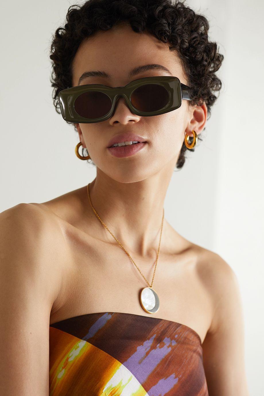 Loewe Lunettes de soleil rondes en acétate x Paula's Ibiza