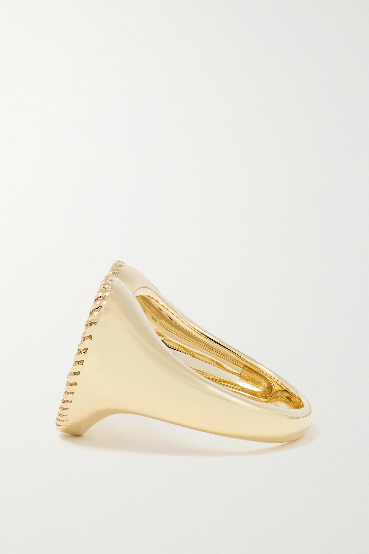 Yvonne Léon 9-karat gold, enamel and diamond ring