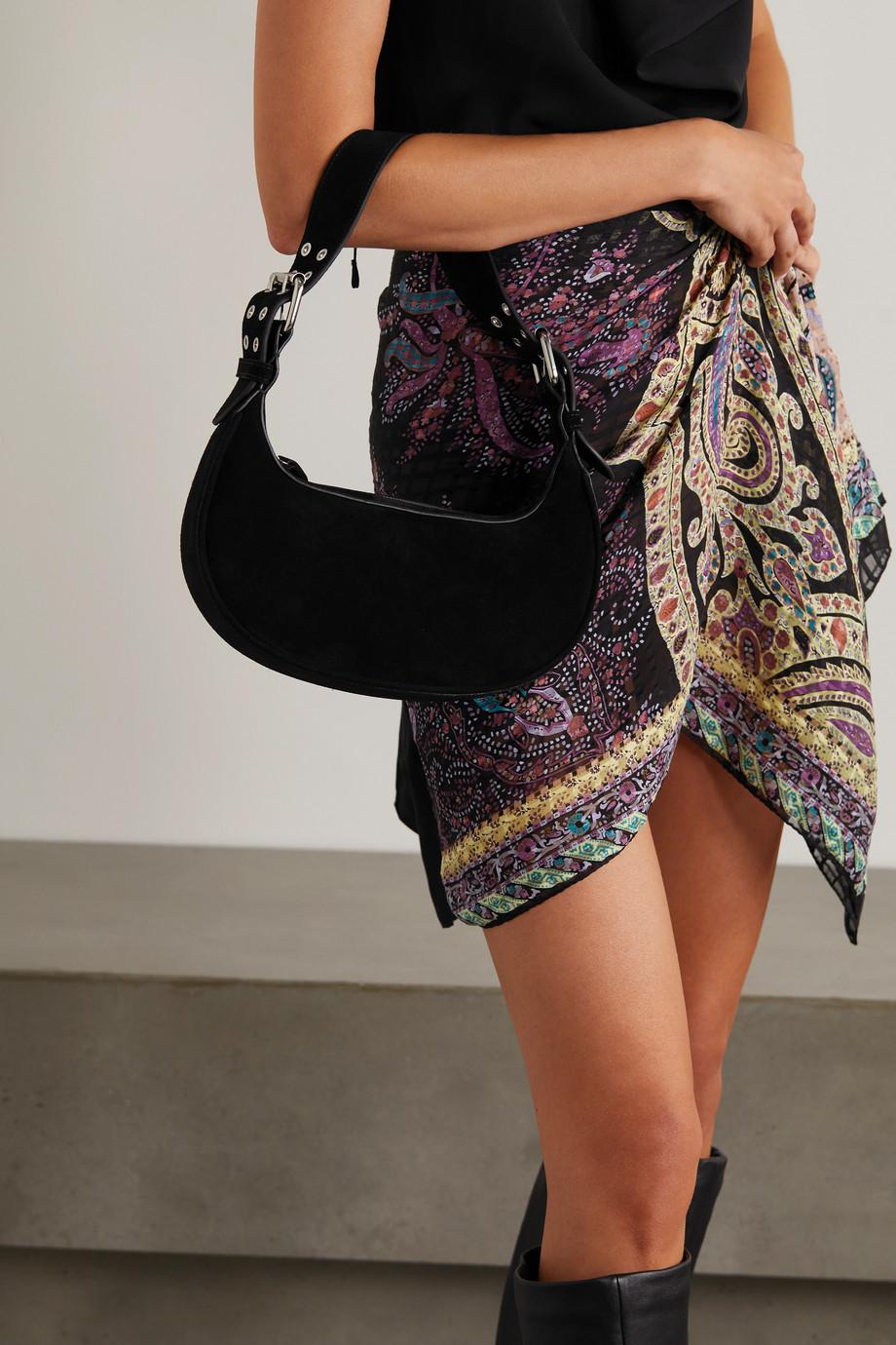 BY FAR Soho suede shoulder bag
