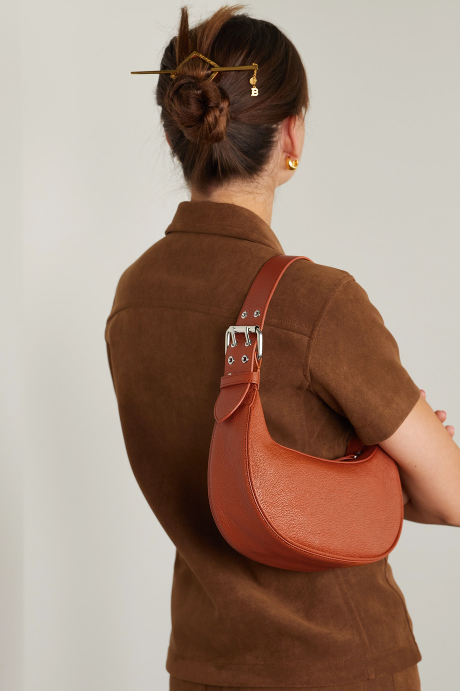 BY FAR Soho textured-leather shoulder bag