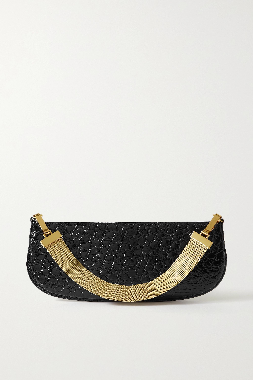 BY FAR - Beverly croc-effect leather shoulder bag