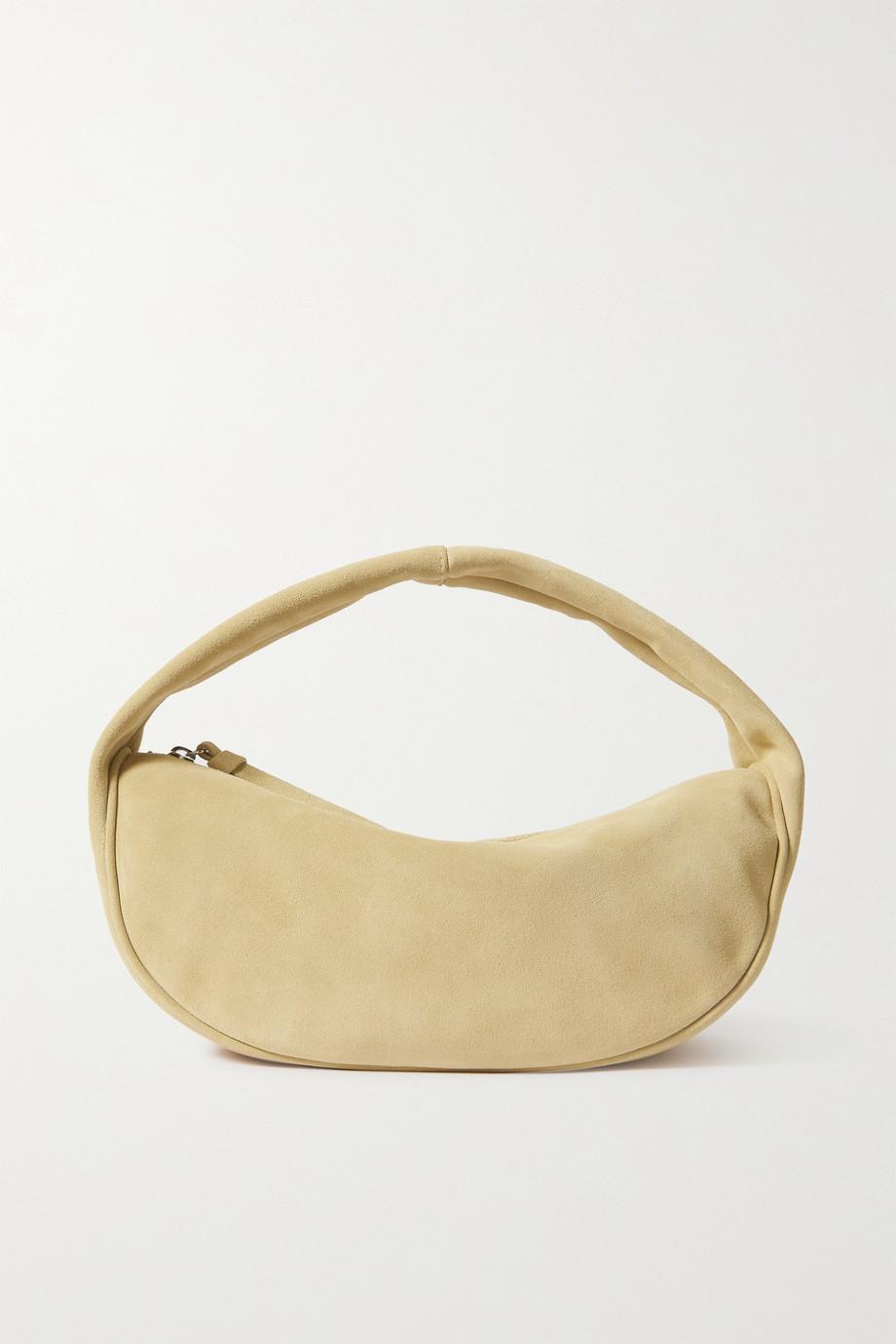 BY FAR Cush suede shoulder bag