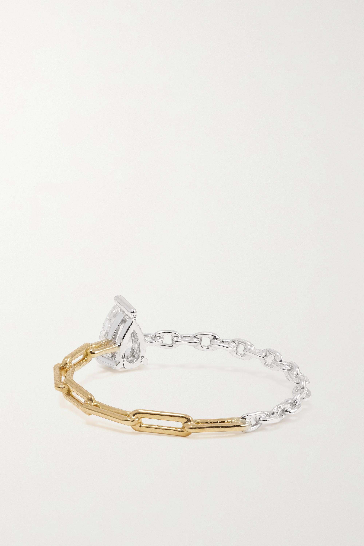 Yvonne Léon 18-karat yellow and white gold diamond ring