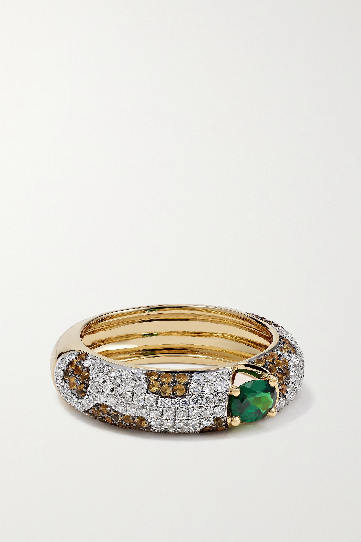 Yvonne Léon - 18-karat gold multi-stone ring