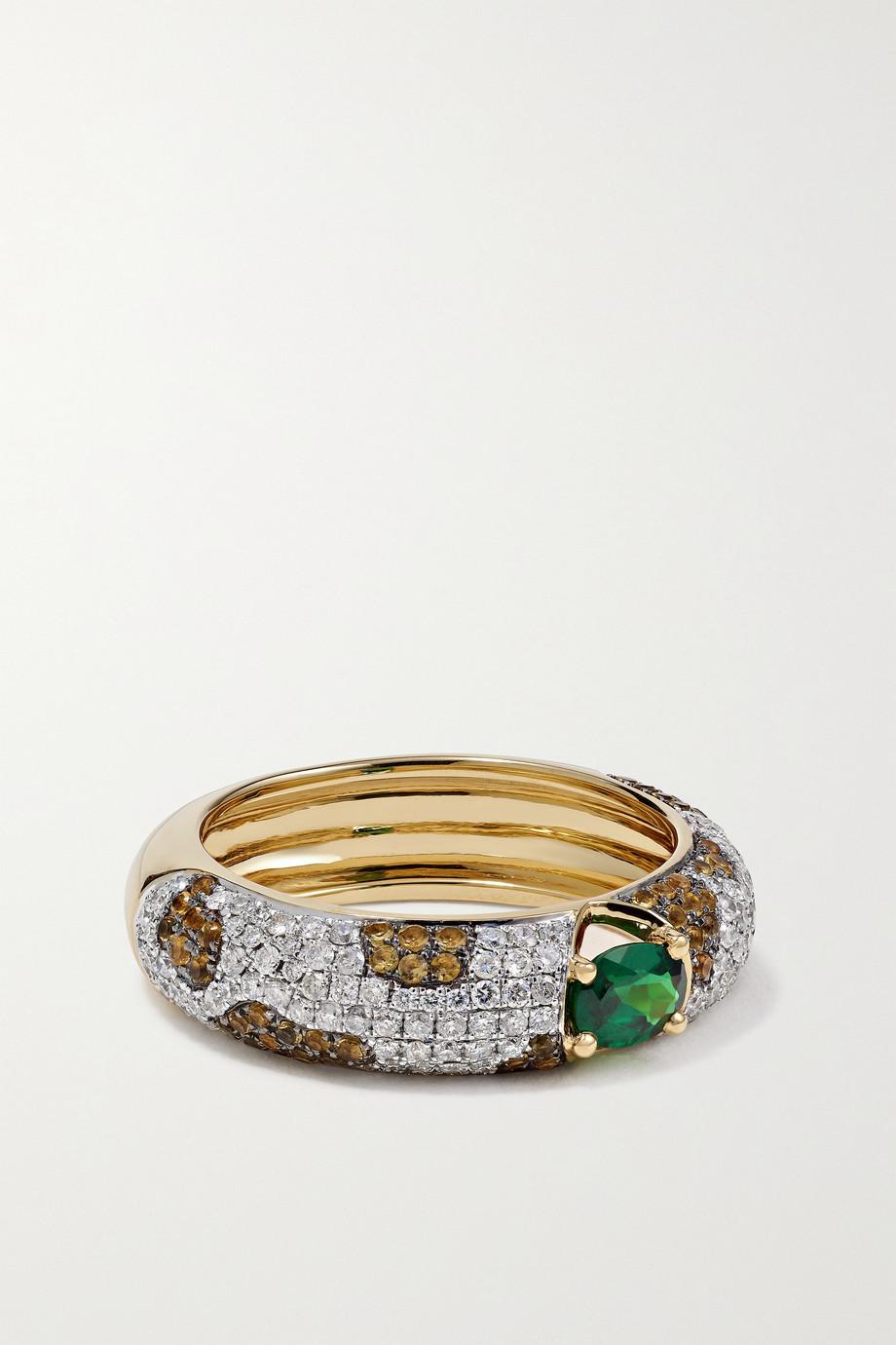 Yvonne Léon 18-karat gold multi-stone ring
