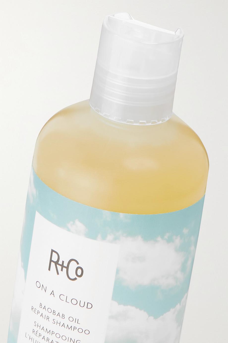 R+Co Shampooing réparateur à l'huile de baobab On a Cloud, 241 ml