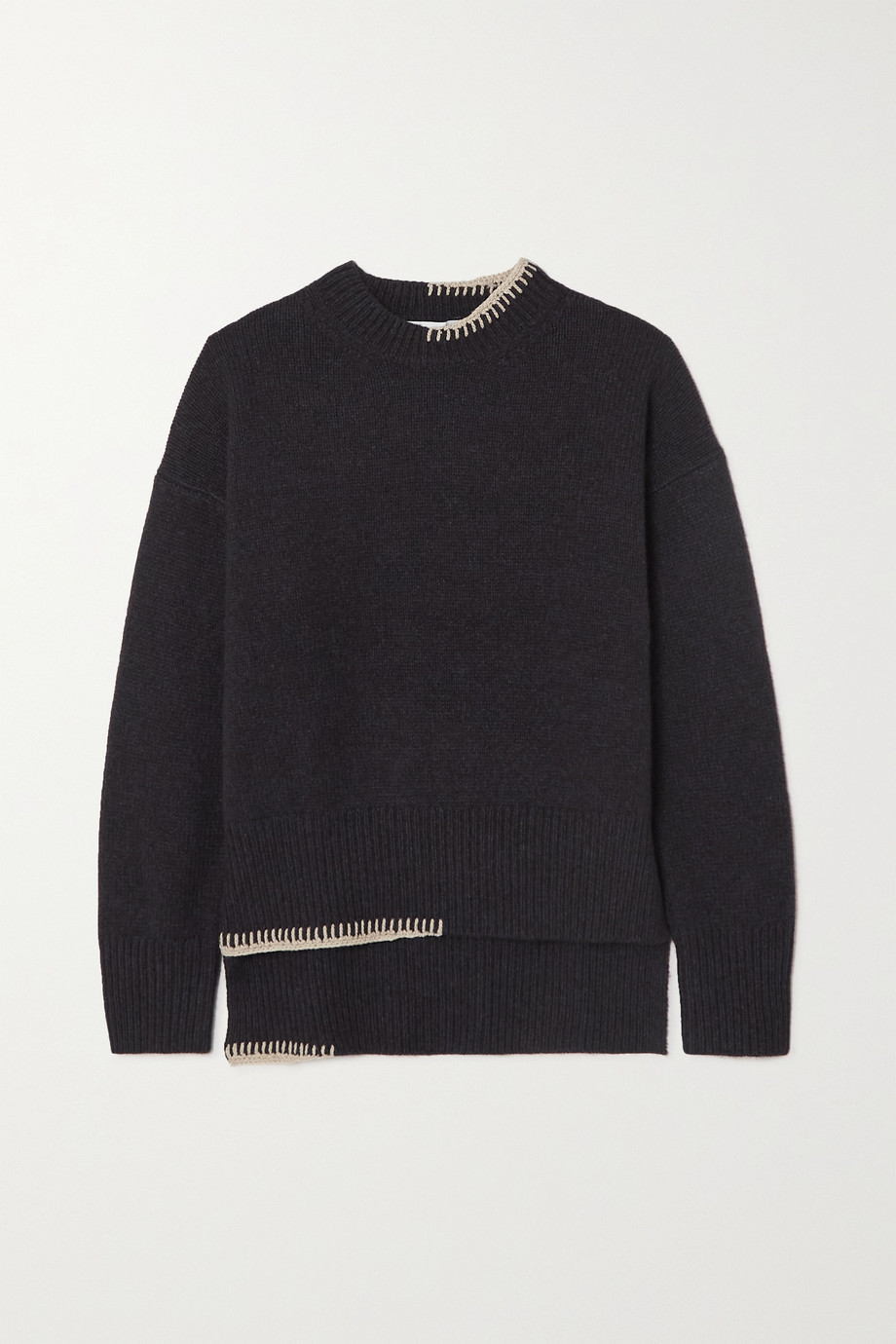 REJINA PYO + NET SUSTAIN Sloane embroidered recycled cashmere and wool-blend sweater