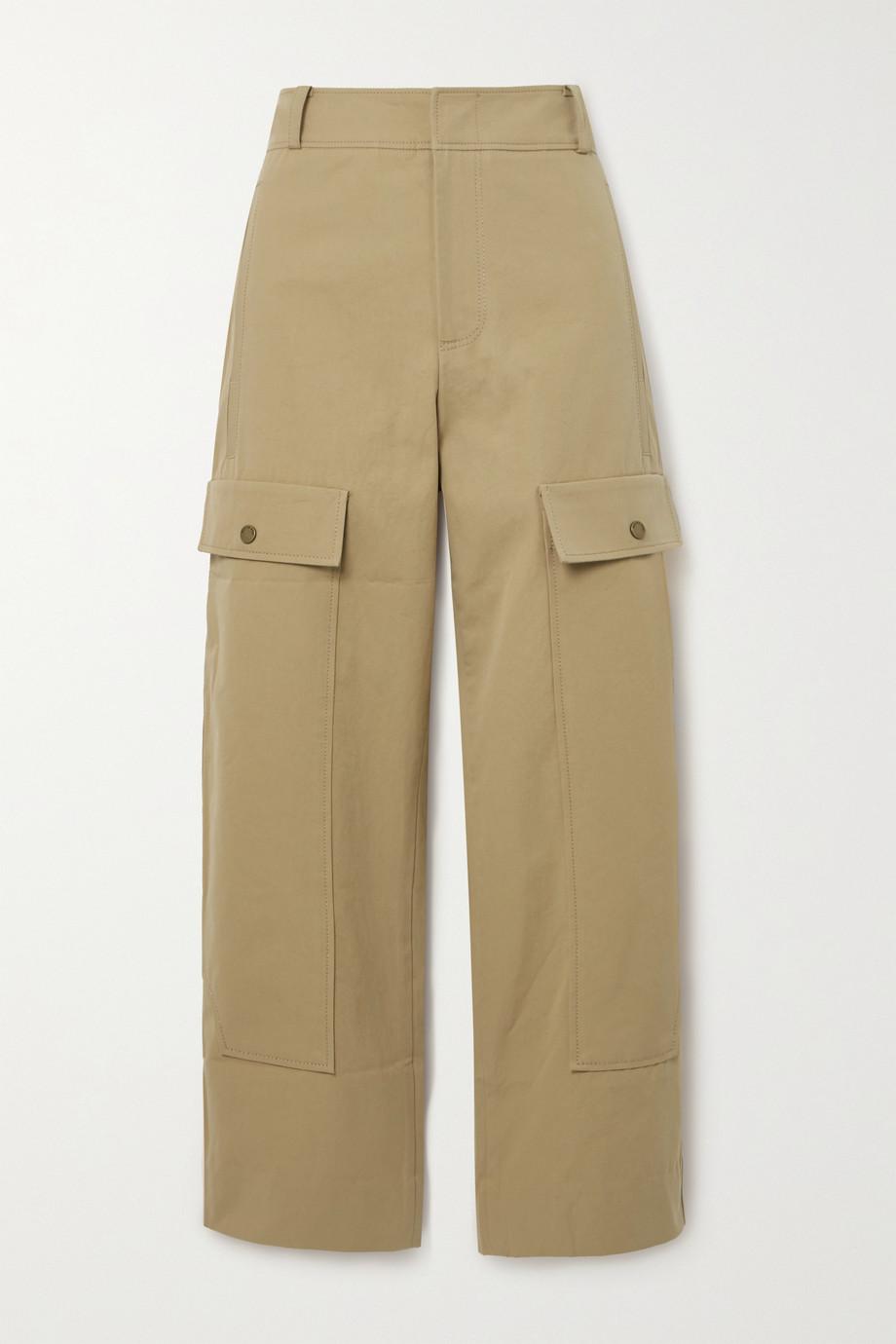 REJINA PYO Pantalon treillis droit en toile de coton Peggy