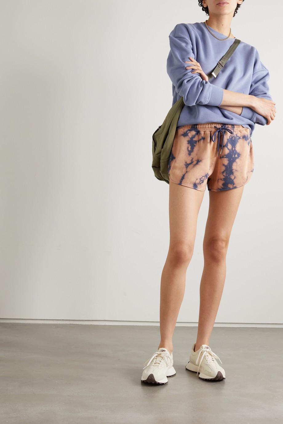 Ninety Percent + NET SUSTAIN tie-dyed organic cotton-jersey shorts