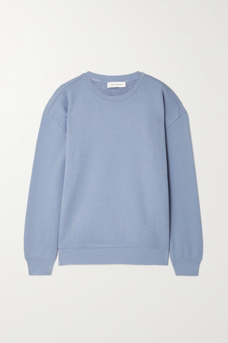 Ninety Percent + NET SUSTAIN Linda organic cotton-terry sweatshirt