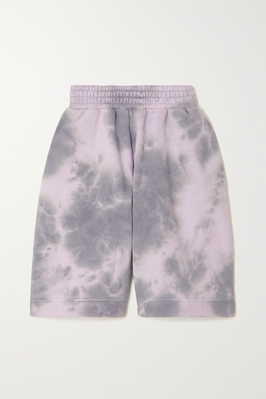 Ninety Percent + NET SUSTAIN Shorts aus Biobaumwoll-Jersey mit Batikmuster