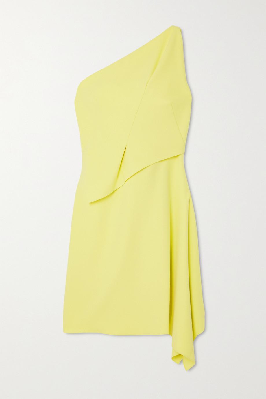 Roland Mouret Hayle one-shoulder draped crepe mini dress
