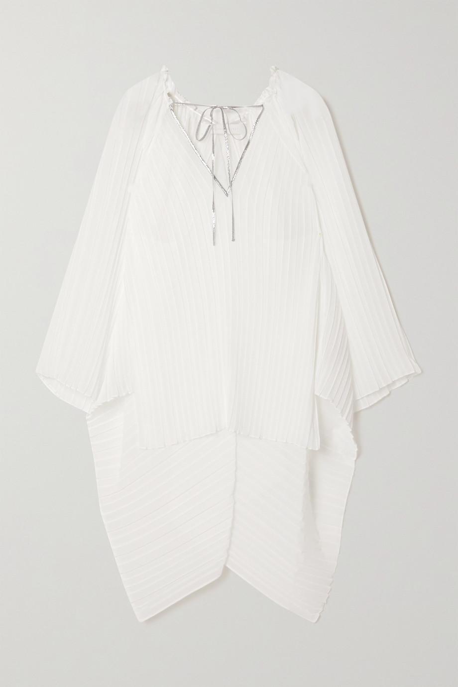 Roland Mouret Kemper cape-effect plissé-chiffon blouse