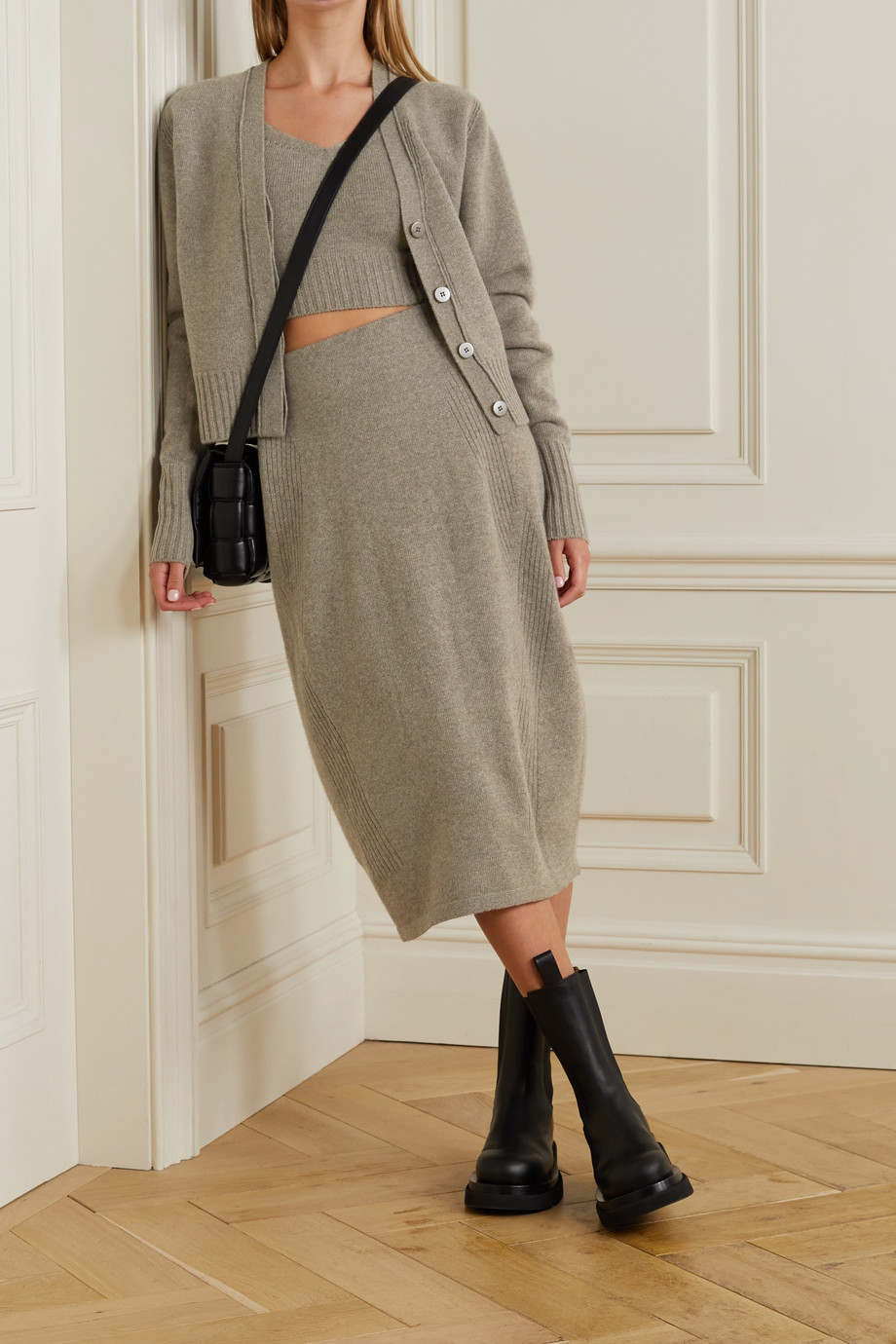 LOW CLASSIC Wool and cashmere-blend cardigan