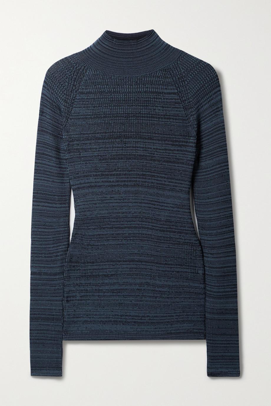 LOW CLASSIC Jacquard-knit turtleneck sweater