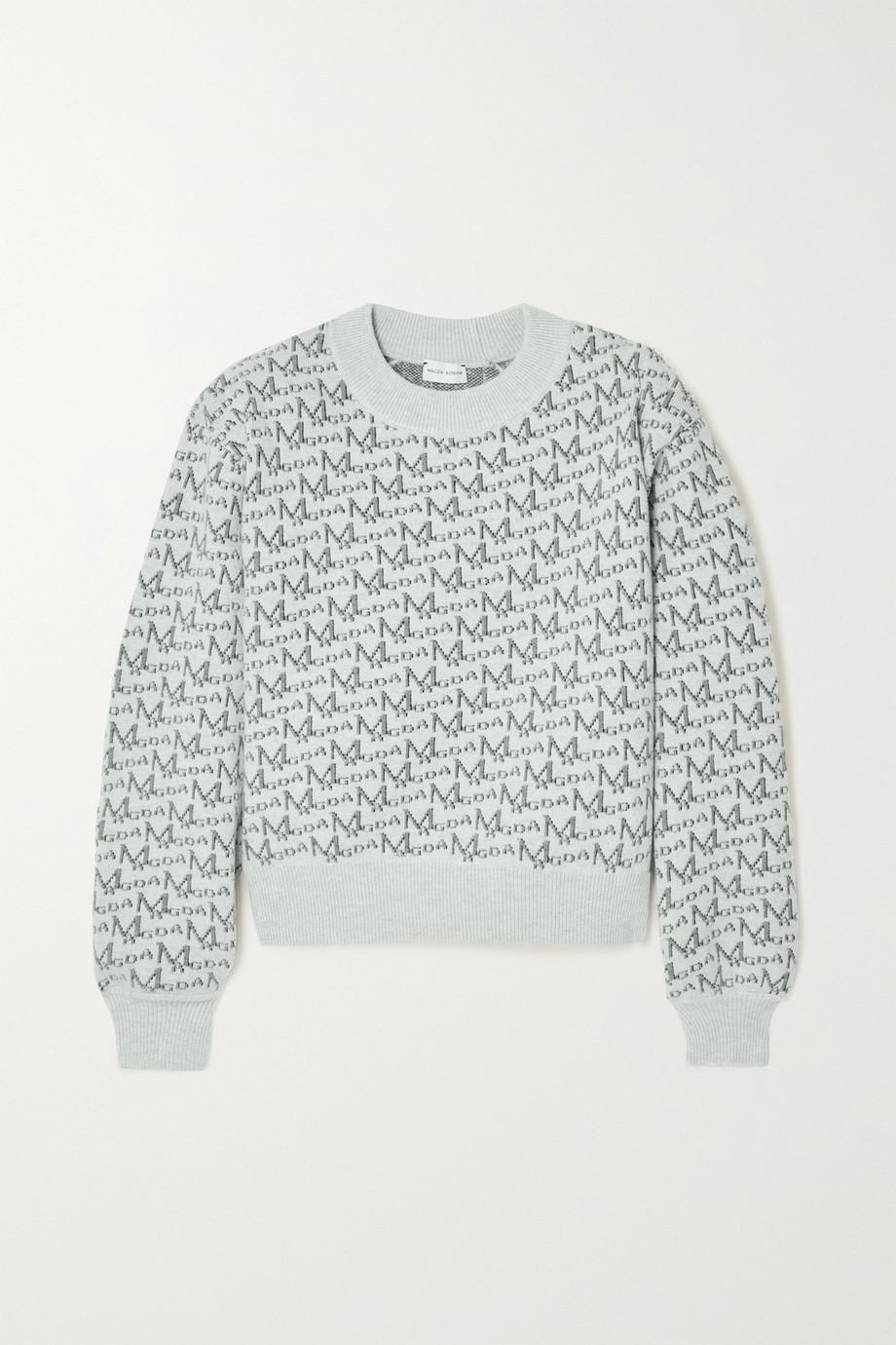 Magda Butrym Jacquard-knit wool-blend sweater