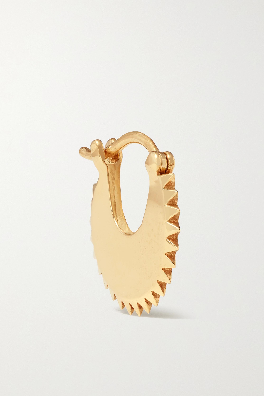 Foundrae Pyramid Crescent einzelne Creole aus 18 Karat Gold