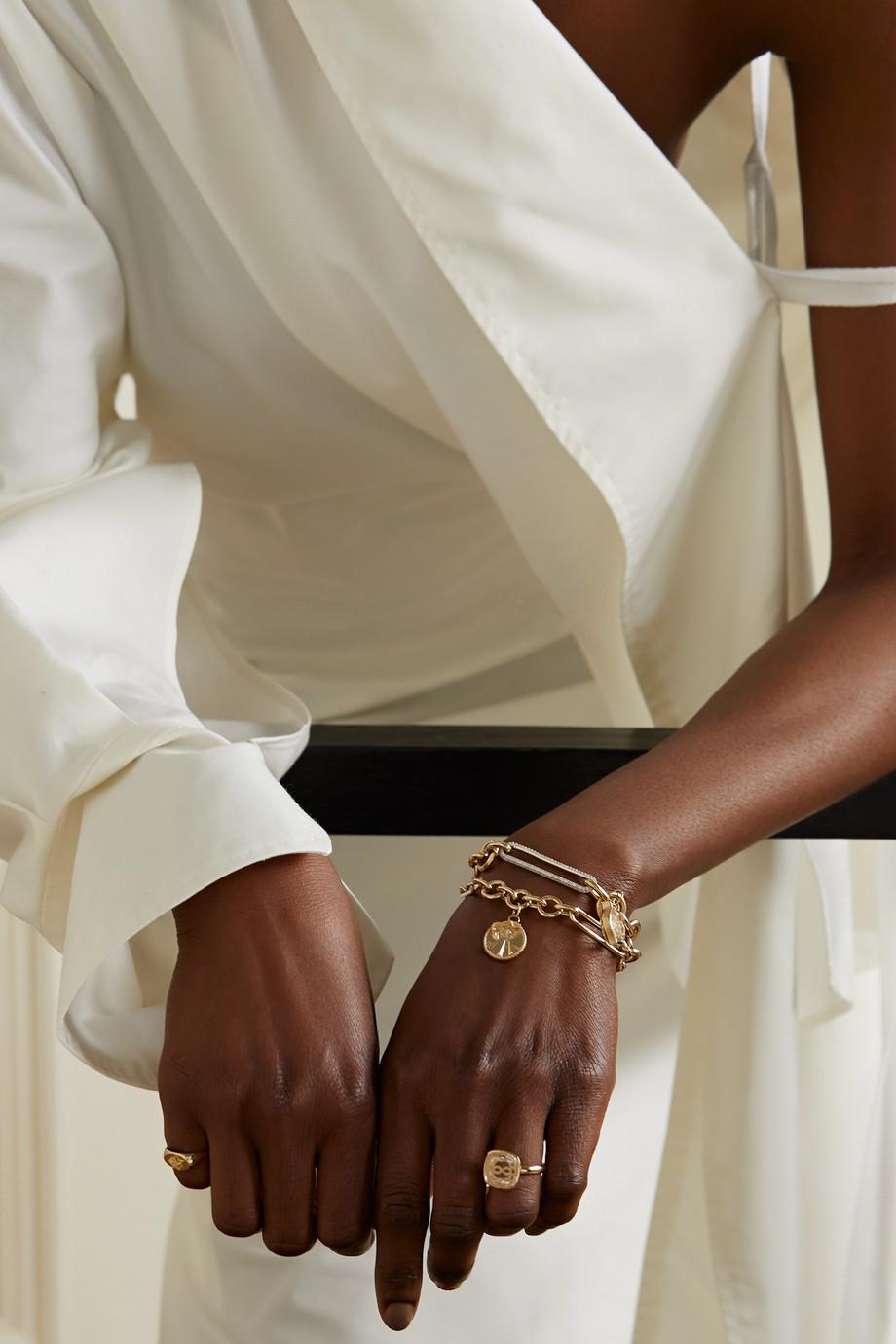 Foundrae Bracelet en or 18 carats et diamant Mind Body Soul