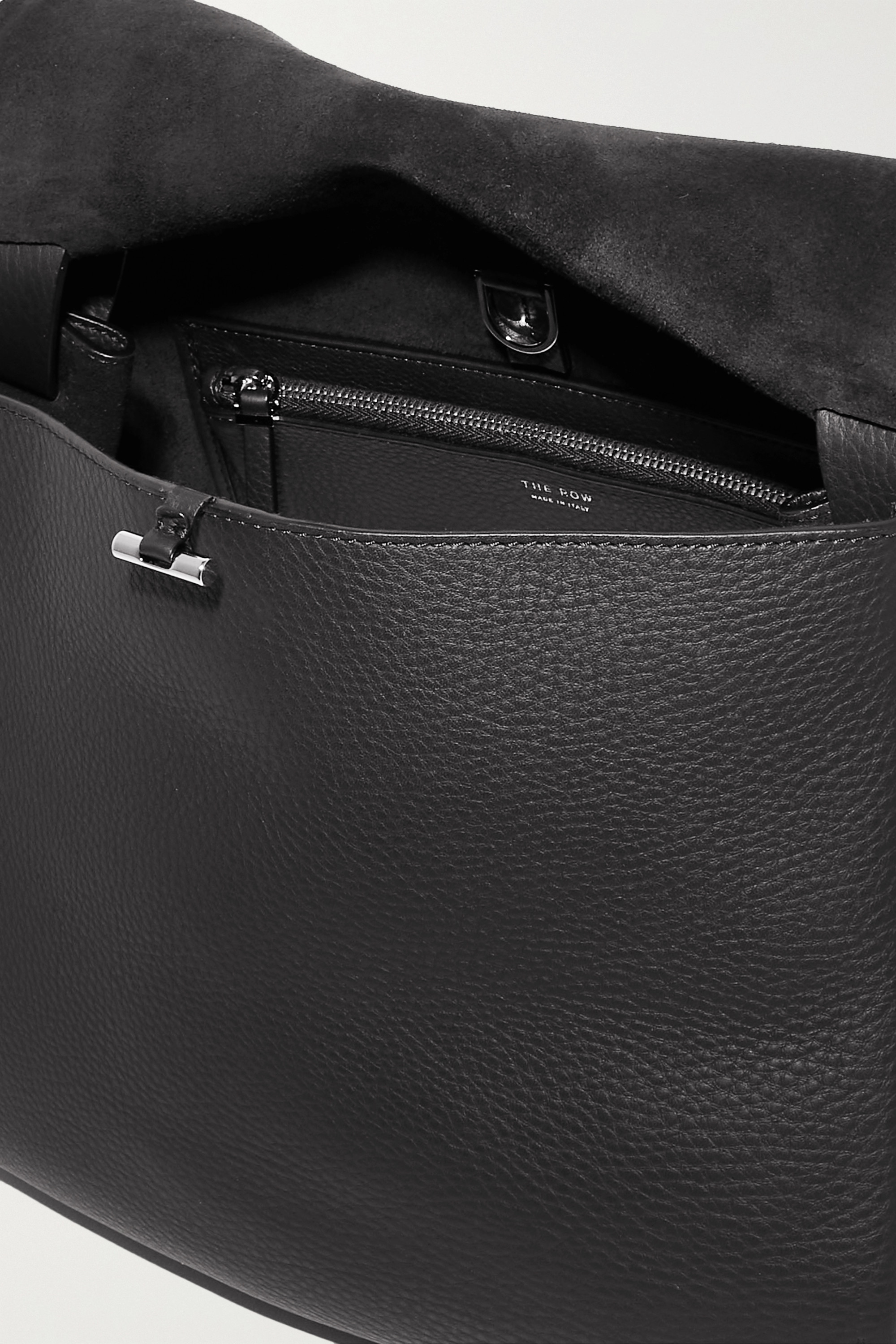 The Row Mail textured-leather shoulder bag