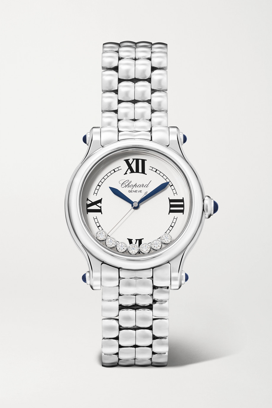 Chopard Montre en acier inoxydable et diamants Happy Sport Limited Edition Automatique 33 mm