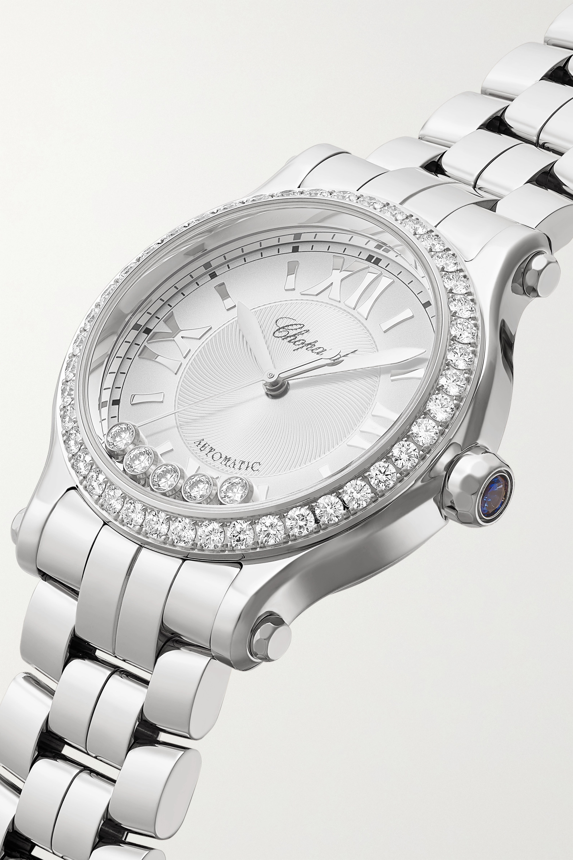 Chopard Happy Sport Automatic 33mm stainless steel and diamond watch