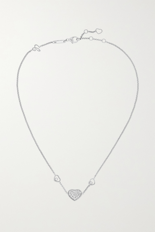 Chopard - Happy Hearts 18-karat white gold diamond necklace