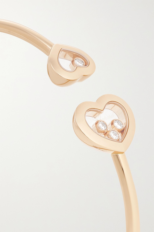 Chopard Happy Diamonds 18-karat rose gold diamond cuff