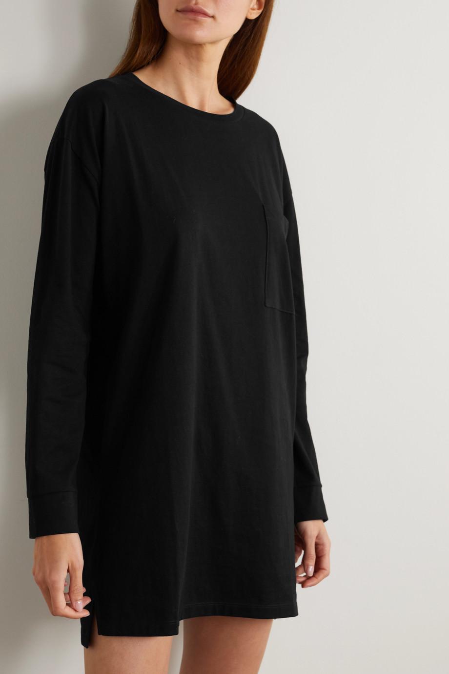 Ninety Percent + NET SUSTAIN Nachthemd aus Biobaumwoll-Jersey mit Stickerei