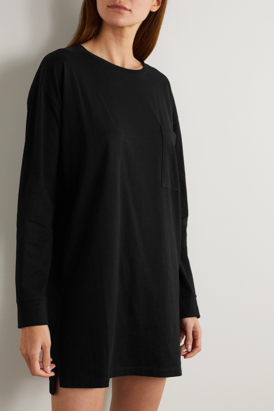 Ninety Percent + NET SUSTAIN embroidered organic cotton-jersey nightdress
