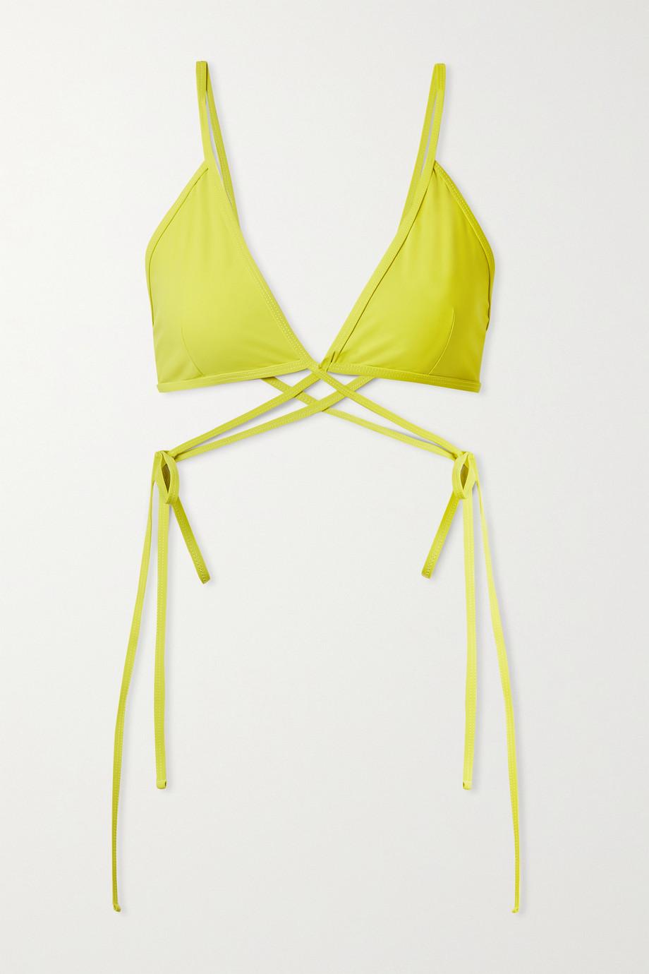 Christopher Esber Wrap Triangel-Bikini-Oberteil