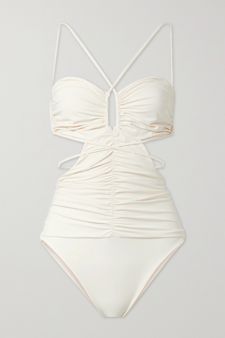 Magda Butrym Cutout ruched swimsuit