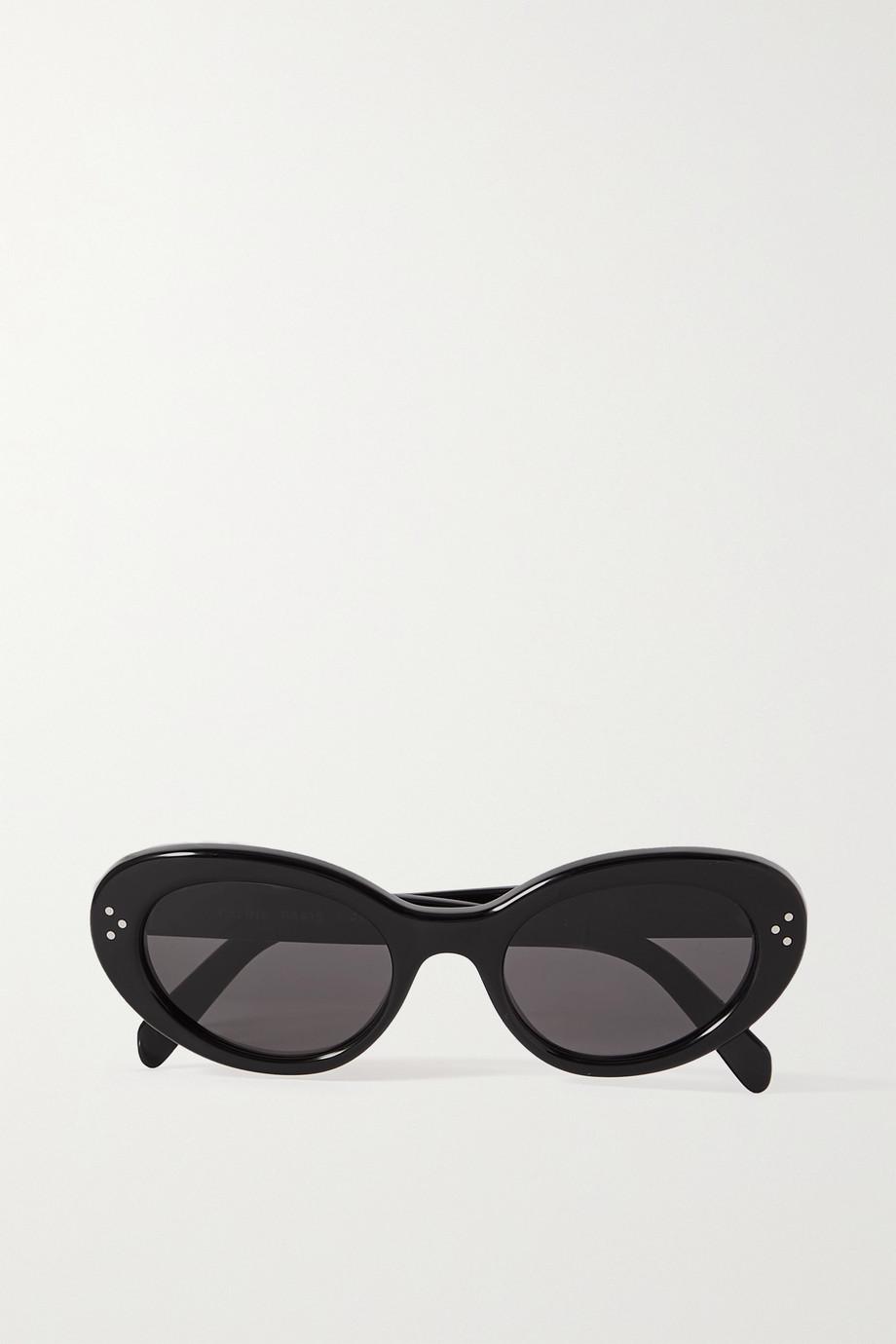 CELINE Eyewear Lunettes de soleil ovales en acétate