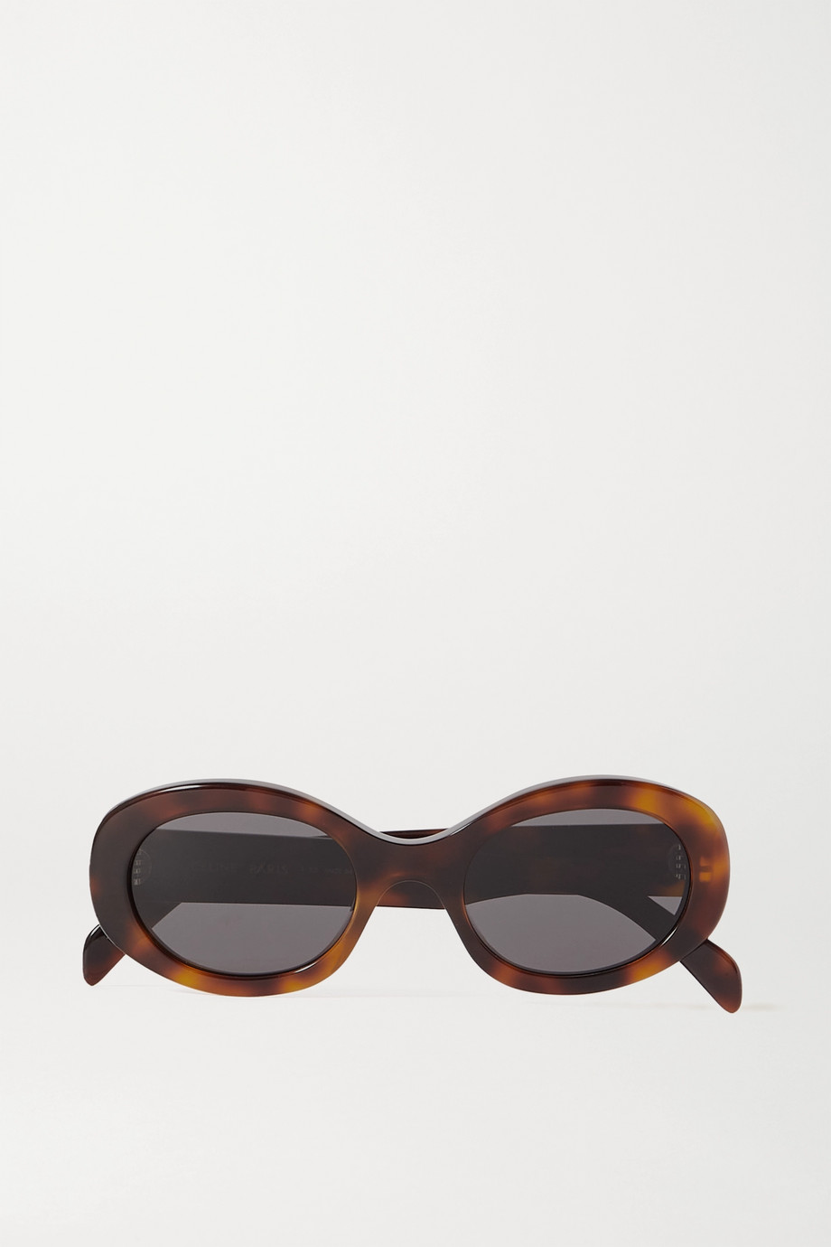 CELINE Eyewear Sonnenbrille mit ovalem Rahmen aus Azetat in Hornoptik