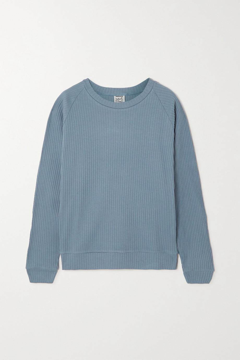 Baserange Basic ribbed organic cotton sweatshirt