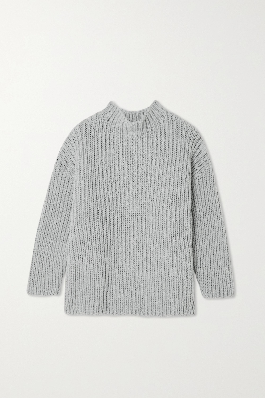 Baserange - Mea oversized ribbed recycled wool-blend sweater