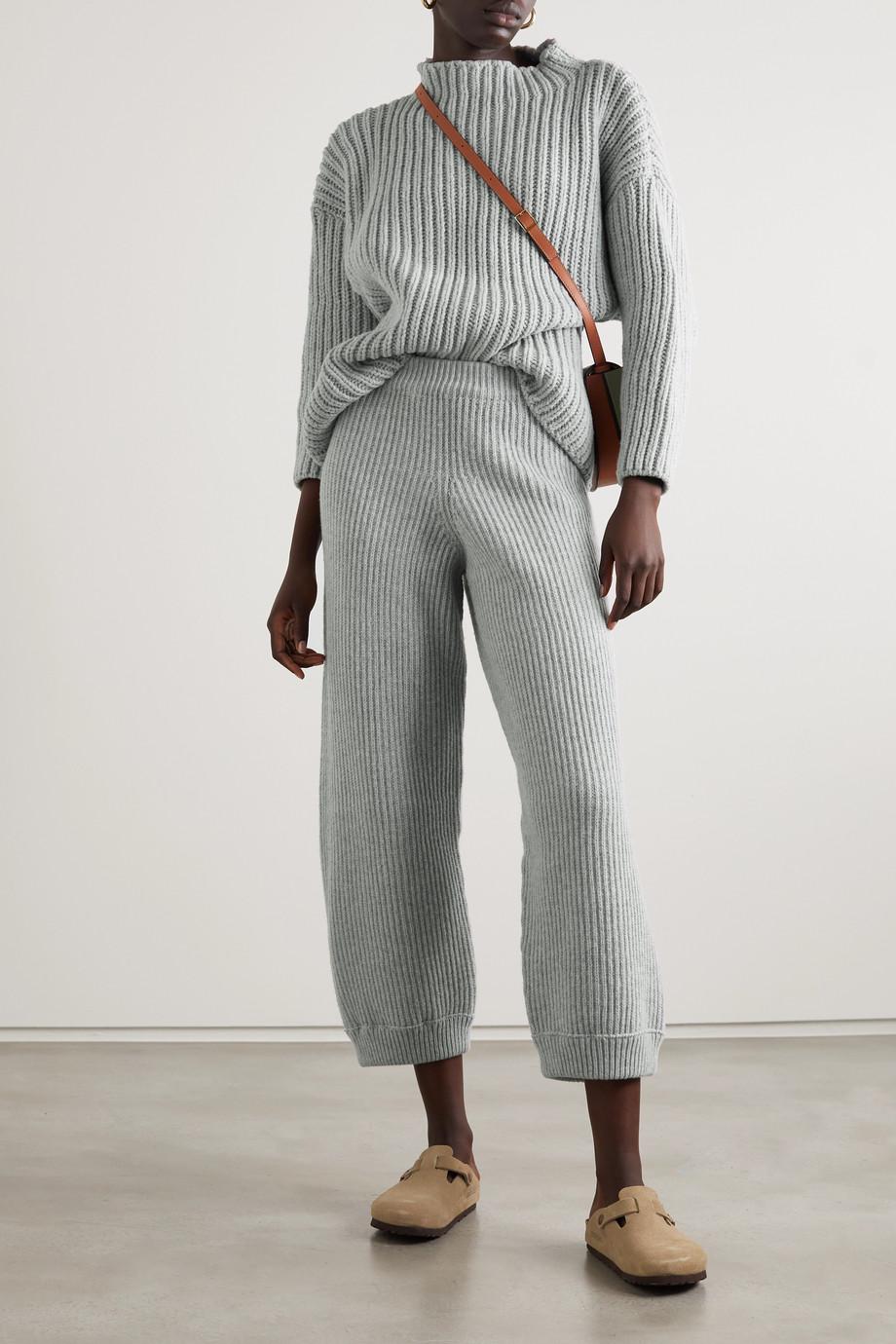 Baserange Mea Oversized-Pullover aus einer gerippten Wollmischung mit recycelten Fasern