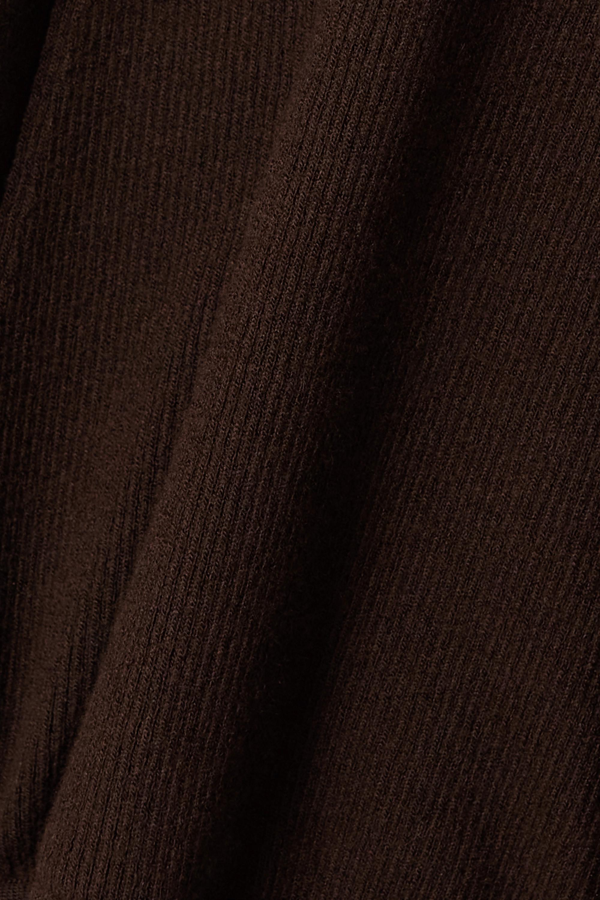 TOM FORD Robe à capuche en cachemire mélangé côtelé